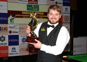 Michael White with the Indian Open trophy