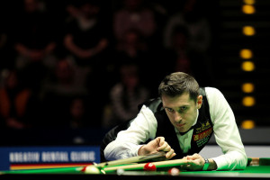 Selby in action during the final