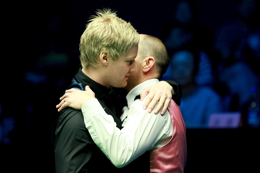 Brothers in arms: Robertson and Perry embrace after the final
