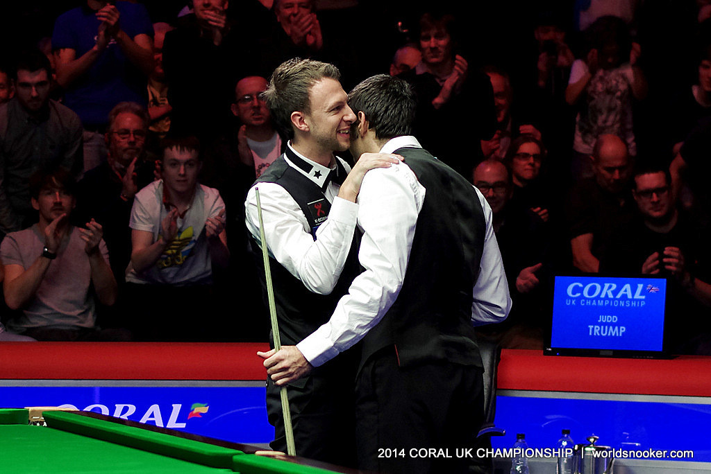 O'Sullivan and Trump embrace after the final