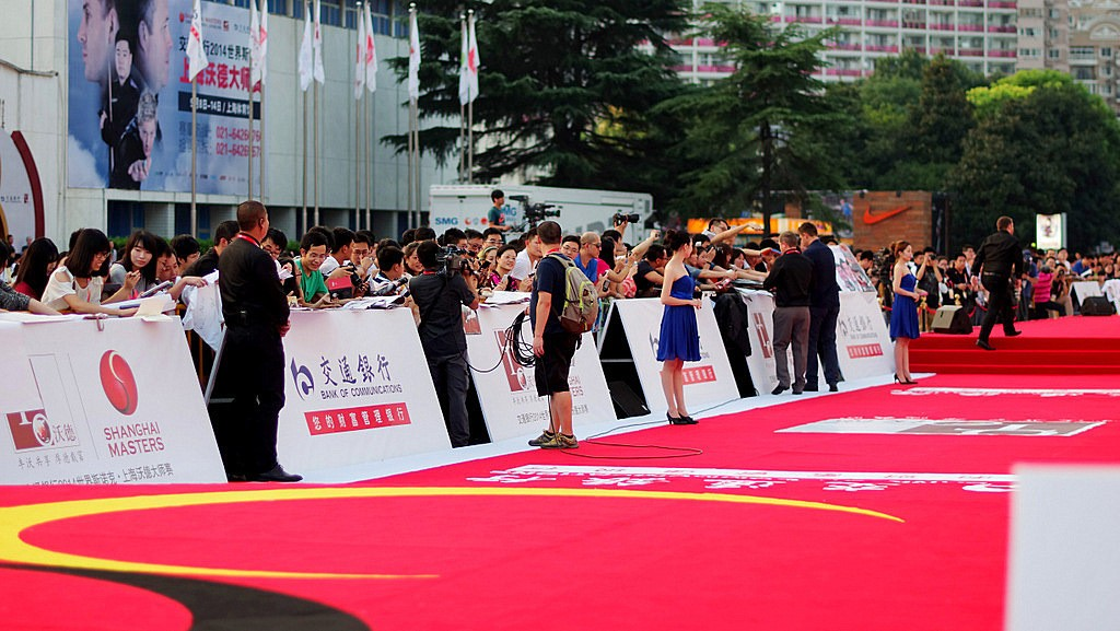The red carpet event is unique to the Shanghai Masters