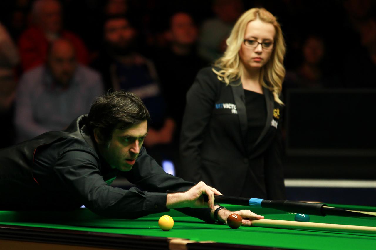 Female Snooker Referees Blonde Glasses