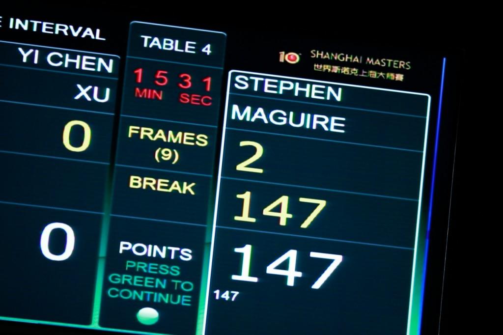 Maguire's third career maximum.