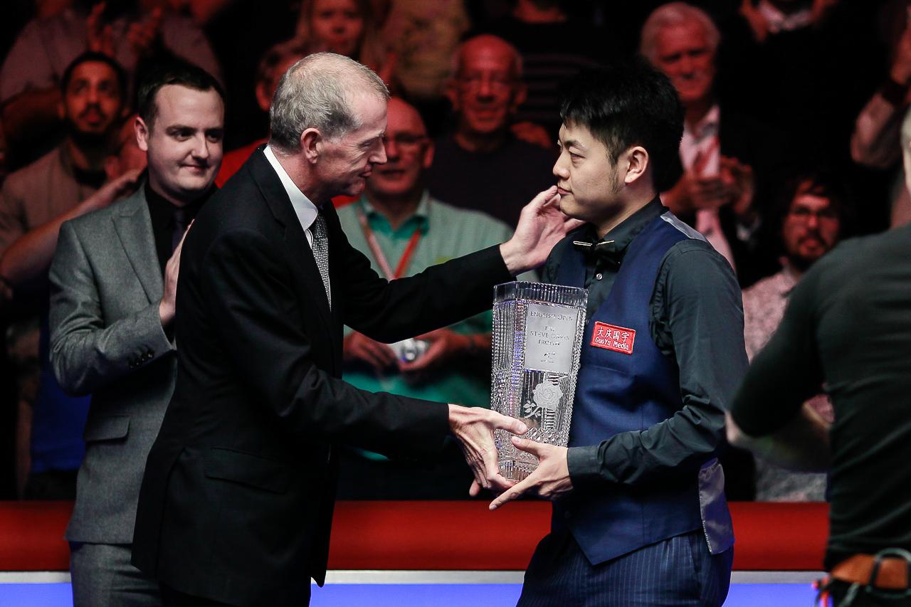 Liang is the first winner of the Steve Davis Trophy