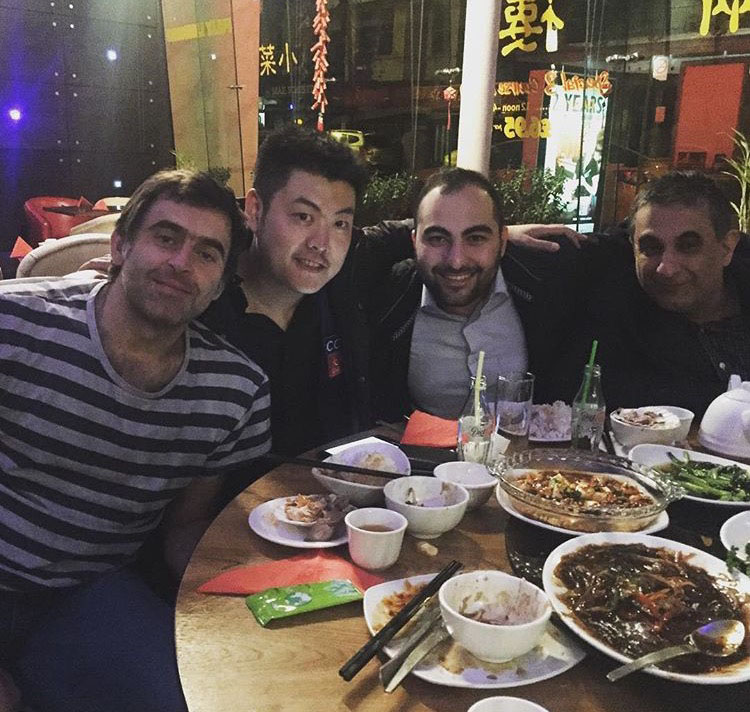 Vafaei has been enjoying some time out with Ronnie O'Sullivan and Liang Wenbo this week.