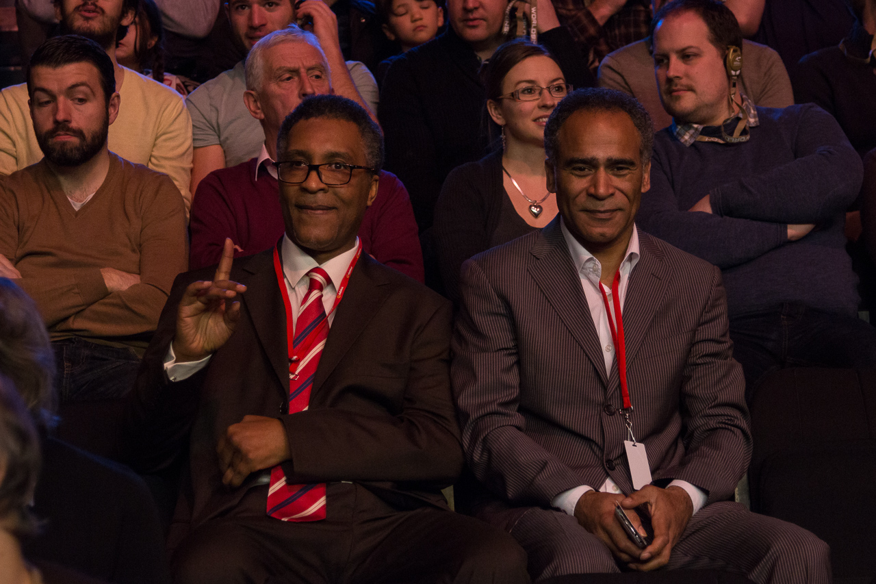 Boxing legend Michael Watson was among the Ally Pally crowd