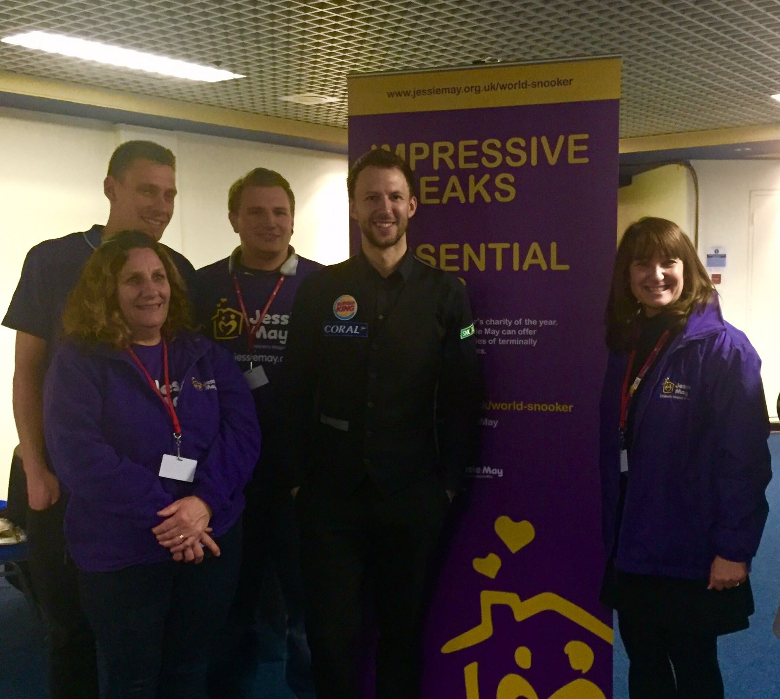 Judd Trump with the team from Jessie May