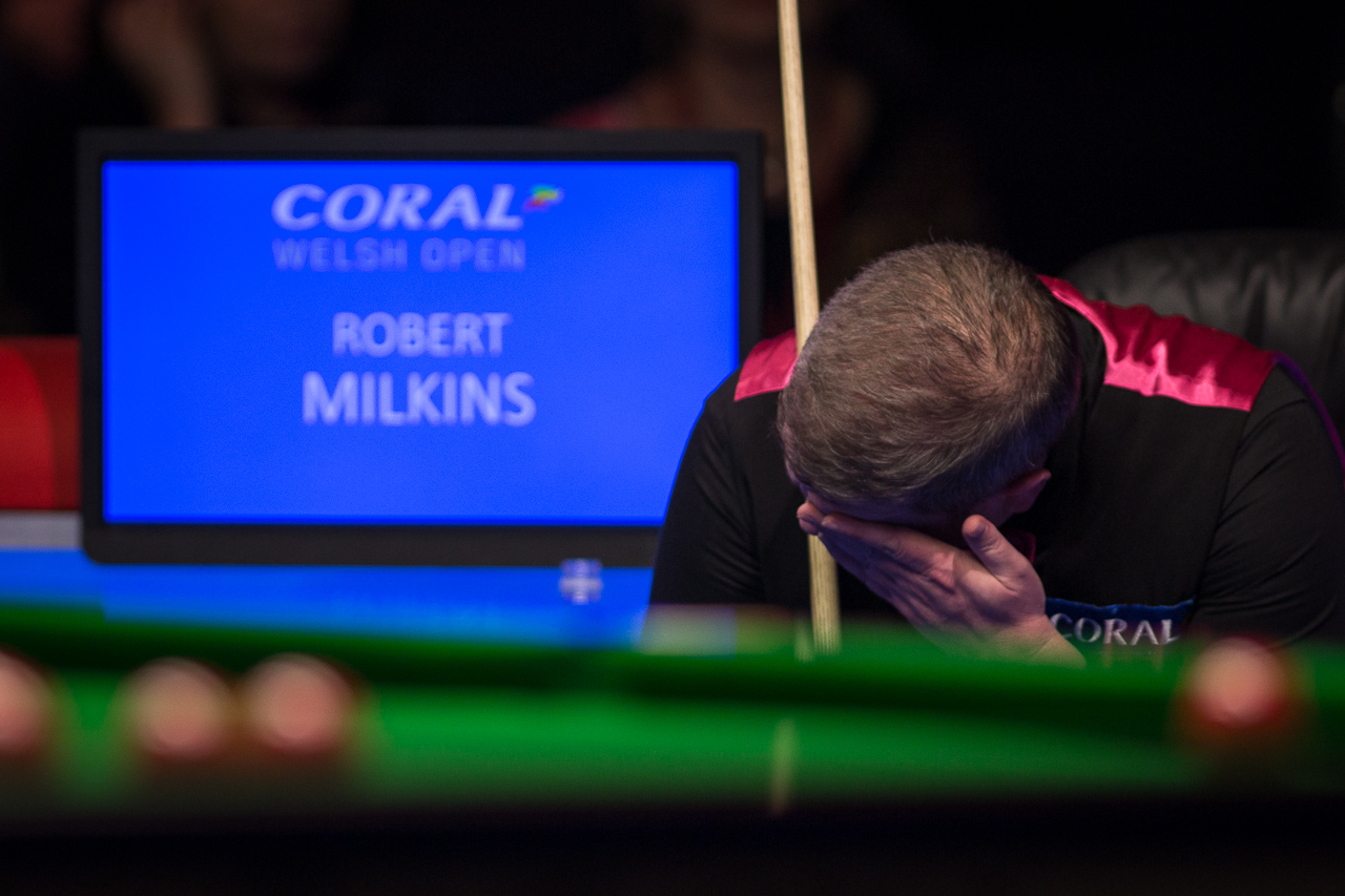 Milkins has appeared in six ranking event semi-finals and lost them all